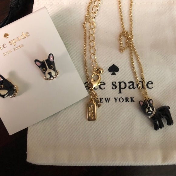 NEW Kate Spade Ma Cherie Antoine Dog jewelry set